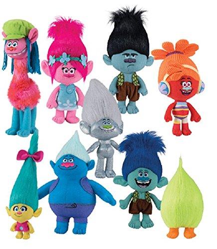 "DreamWorks Trolls Movie 8"" -12"" Trolls Doll Set - 9 Piece Set"