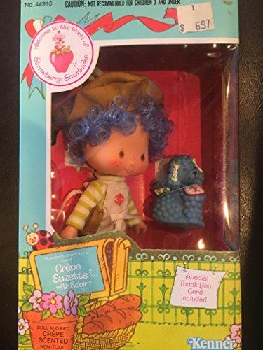 Kenner Vintage 1980 Strawberry Shortcake Crepe Suzette Doll with Eclair pet - Vintage Strawberry Shortcake