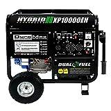 10000 watt portable generator - DuroMax XP10000EH 10000 Watt Dual Fuel Hybrid Generator W Elec. Start 50-State (Certified Refurbished)