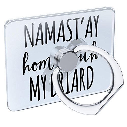 - Cell Phone Ring Holder Namast'ay Home My Briard Simple Sayings Collapsible Grip & Stand Neonblond