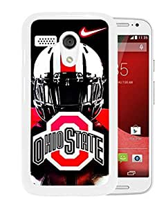 Ncaa Big Ten Conference Football Ohio State Buckeyes(5) White Motorola Moto G Screen Phone Case Attractive and Fashion Design