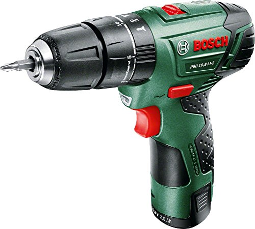 Bosch PSB 10.8 LI-2 Cordless Combi Drill with 10.8 V Lithium-Ion Battery