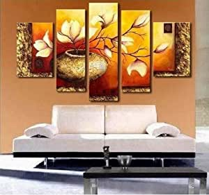 100 hand painted modern abstract oil painting - Amazon dormitorios ...