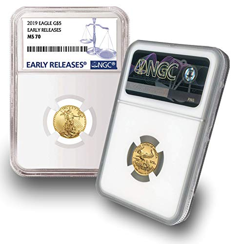 (2019 1/10 oz Gold Eagle G$5 MS70 NGC Early Releases )