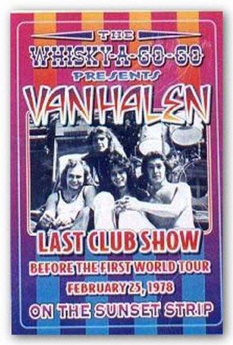"Bruce Teleky Van Halen, 1978: Whisky-A-Go-Go, Los Angeles by Dennis Loren 19.5""x13.5"" Art Print Poster from Bruce Teleky"