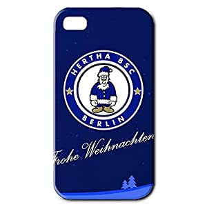 Custom Design FC Hertha BSC Theme Football Club Phone Case Cover For Iphone 4 3D Plastic Phone Case
