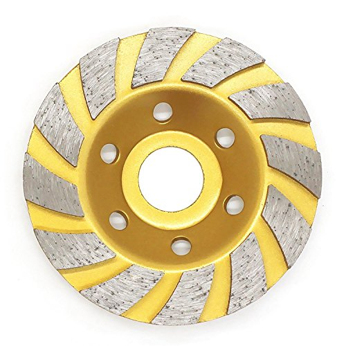 Diamond Segment Grinding Cup Wheel Disc Grinder Concrete Granite Stone for Angle Grinder by - Extra-Perseverance (Golden)