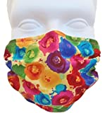 Breathe Healthy Dust, Allergy & Flu Mask - Washable Anti Dust Mask - Filters Dust, Pollen, Allergens, & Flu Germs - Ideal for Dog Grooming, Gardening, Sanding Fantasia (Child / Smaller Face)