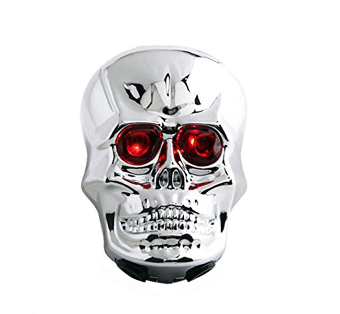 Youshe Waterproof Skull Laser Tail Light, 2 LED Lamp bead 6 Flash Modes Bike Bicycle Safety Back Rear Light, Novel Style Great for Cycling Trip Powered by Battery Not Included