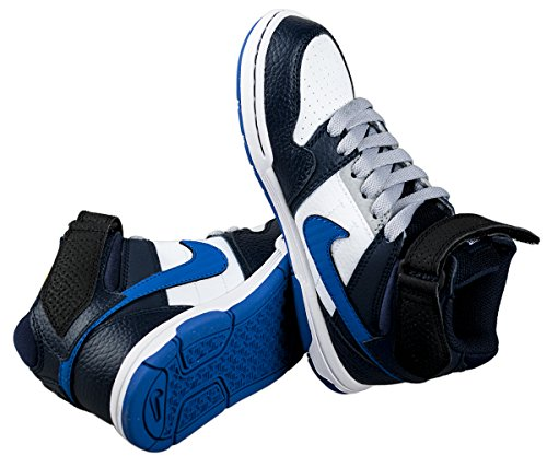 Nike - Mogan Mid 2 JR B - Color: Azul marino-Blanco - Size: 37.5