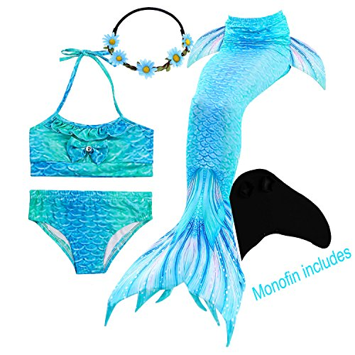 GALLDEALS Mermaid Tails for Swimming with Monofin for