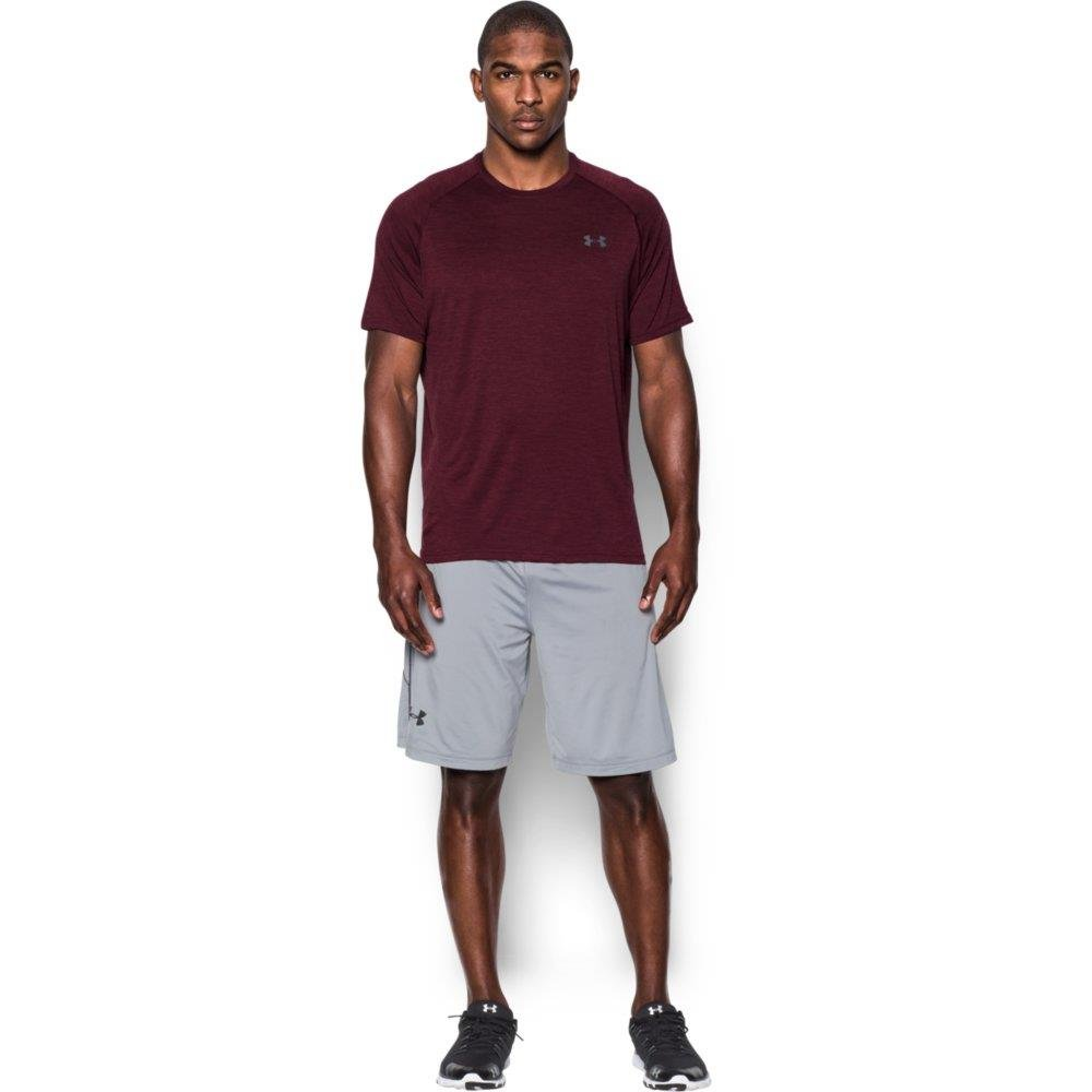 [アンダーアーマー] UA Tech SS Tee メンズ 1228539 B019ZIODHI Large|Dark Maroon/Graphite Dark Maroon/Graphite Large
