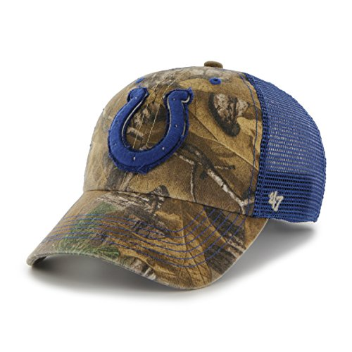 NFL Indianapolis Colts '47 Huntsman Closer Camo Mesh Stretch Fit Hat, One Size, Realtree Camouflage ()