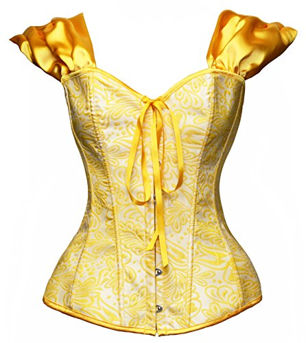 Bslingerie Womens Halloween Snow White Bustier Corset Top (XX-Large, Yellow (Belle)) ()