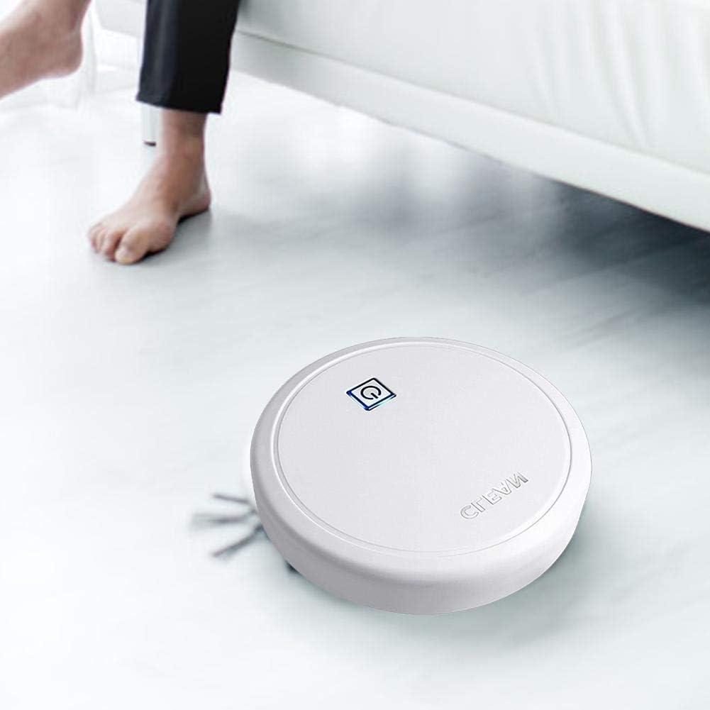 LXRZLS Aspirapolvere del Robot Multifunzionale 3 in 1 Dry Wet Intelligente spazzamento aspirapolvere Robot Automatico Ricaricabile for la casa (Color : Black) White