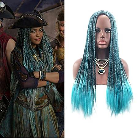 Majome Peluca de pelo de las mujeres trenzada pelucas del traje de la manera sintética Cosplay para los descendientes 2 Uma: Amazon.es: Belleza