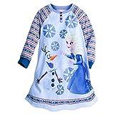 Disney Frozen Long Sleeve Nightshirt For Girls Size 7/8 Blue