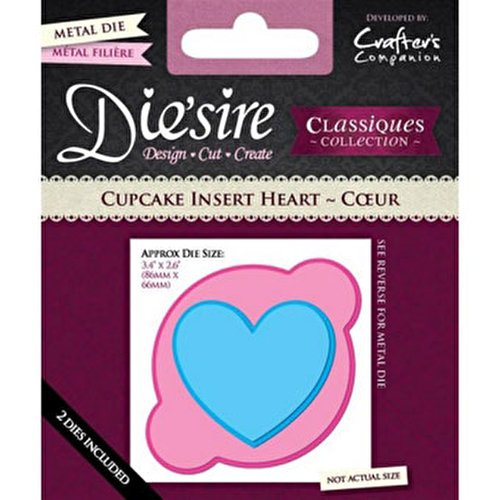 Crafters Companion Die'sire Classiques Cupcake Insert - Heart