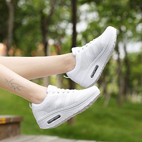 Plataforma Lace Calzado Correr Deportivas Zapatos Para Zapatillas up de Mujeres Sneakers Aire Para Tac Caminar Fitness UTwvYwx