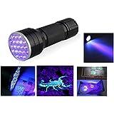 Relefree 21 LED UV Lampe de Torche pour Inspection, Identification, Détection Testeur UV