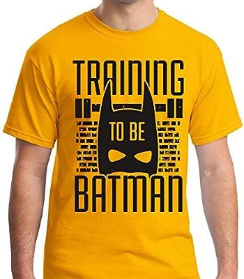 Raw T-Shirt's Training To Be Batman - Super Hero Workout Men's T-Shirt