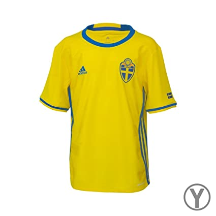 2015394ee Amazon.com   adidas Sweden 2015 2016 Youth Home Jersey   Sports ...
