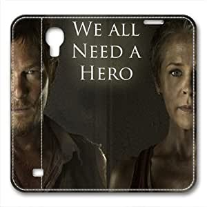 iCustomonline Leather Case for Samsung galaxy S4, The Walking Dead Daryl Stylish Durable Leather Case for Samsung galaxy S4
