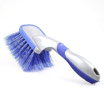 houzhi Liang - Cepillo de Limpieza para neumáticos de Coche, Herramienta de Lavado Antideslizante, Mango Suave Limpiador: Amazon.es: Coche y moto
