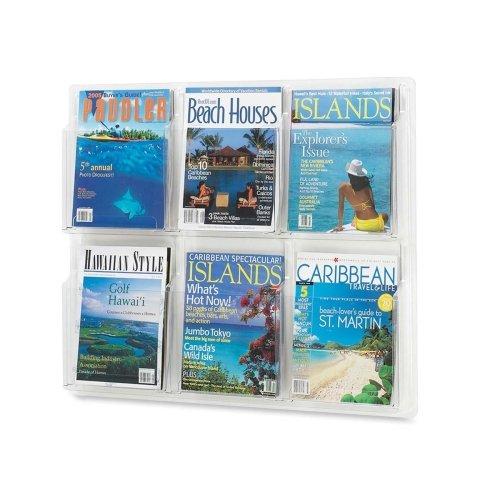 Safco Six Magazines Literature Display Rack (5607CL)