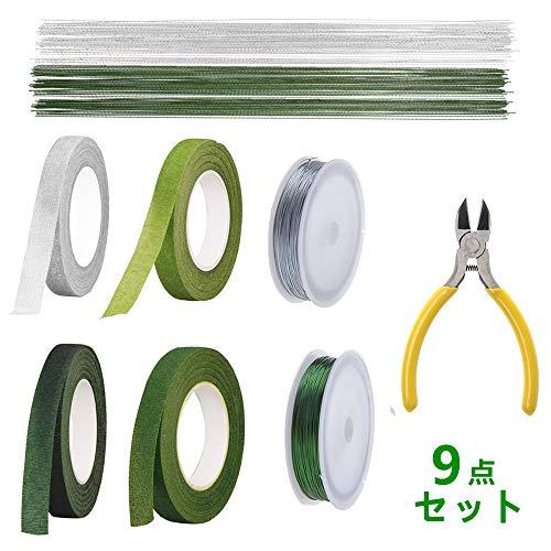 [해외]RAIN QUEEN 조화 테이프 꽃 예 장식 세트 리본 테이프 DIY 공예 재료 ギット 철사 / RAIN QUEEN Artificial Flower Tape Flower Decoration Set Flora Tape DIY Handicraft Material Git Iron Wire