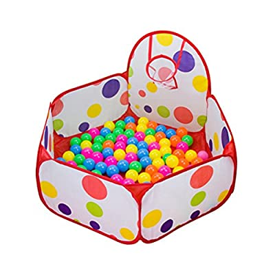 WINOMO Kids Ball Play Poll Tent Toddler Ball Pit with Basketball Hoop for Toddlers 1m: Computers & Accessories