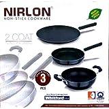 NIRLON 3 Pcs Non-stick Cookware Set.