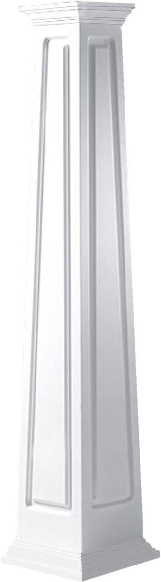Ekena Millwork Cc1608Etrcrcr Column, White