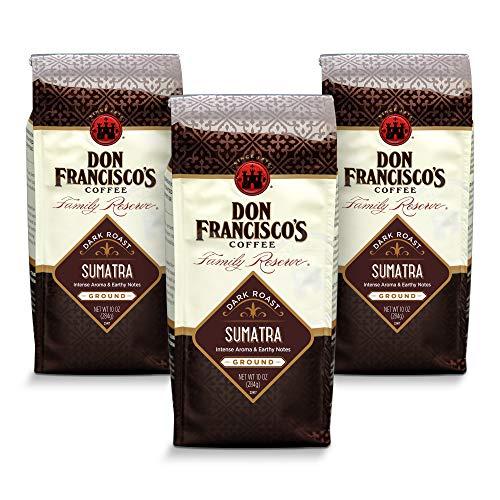 Don Francisco's Sumatra Ground Coffee, 100% Arabica (3 x 10-Ounce Bags)