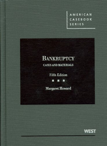 Cases and Materials on Bankruptcy, 5th (American Casebook) (American Casebook Series) Creditor Business Card