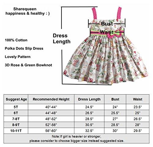 c8e7e1f91 Sharequeen Fairy World Printing Cotton Baby Kids Slip Dress Bowknot ...