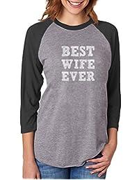 TeeStars BEST WIFE EVER Valentine's Day Gift From Husband Women 3/4 Women Baseball