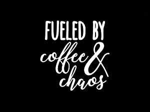 Fueled by Coffee Decal Vinyl Sticker|Cars Trucks Vans Walls Laptop| White |5.5 x 5.4 in|DUC387