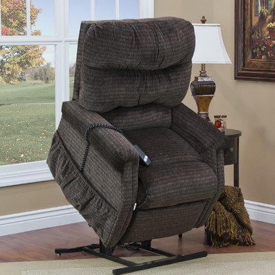 1100 Series 3 Position Lift Chair Moveable Infrared Heat: Yes, Upholstery: Bella Crypton - Toffee, Vibration and Heat: None