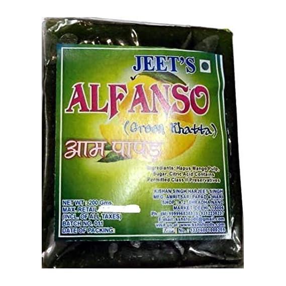 Jeet Alphanso Aam Papad Green Khatta - Pack of 2 - 400 GMS