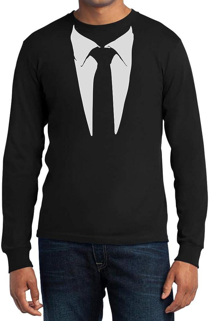 Camiseta manga larga, estampada con traje de corbata, del ...