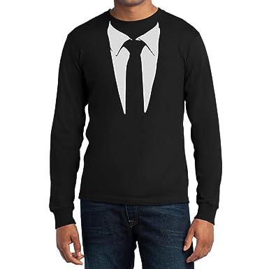 bdd8a4a8233c0d Gedruckter Anzug Legendäre Stinson Krawatte Barney - Tuxedo Kostüm Party  Langarm T-Shirt  Amazon.de  Bekleidung