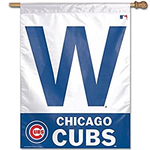 MLB Chicago Cubs 27-by-37-Inch Vertical Flag-W Logo