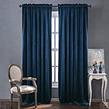 Home Decor Blackout Velvet Curtains - Sound Reducing Heavy Matt Solid Drapes / Panels for Living Room by NICETOWN (One Piece, 96 inch Length)