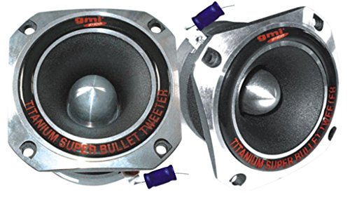 Super Titanium Tweeter - 600 Watts, Peak Power, Ferro Fluid Enhanced, Hardware Included, Fits All Woofer Enclosures - Replacement Subwoofer Part - By GMI Pro