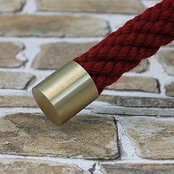 Seilendkappe Messing matt f/ür 40mm Handlaufseil