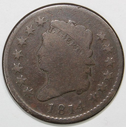 1814 Classic Head Large Cent 1c Very Good