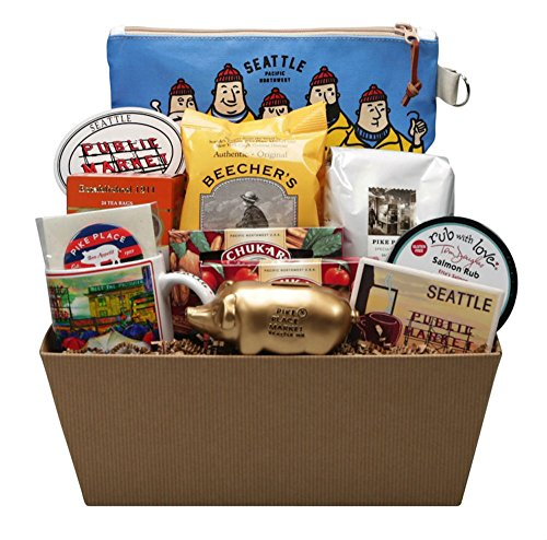 Seattle Best of Pike Place Market Ultimate Gift Basket - Seattle Souvenirs
