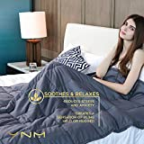 YnM Weighted Blanket (15 lbs, 48''x72'', Twin Size) | Gravity 2.0 Heavy Blanket | 100% Cotton Material with Glass Beads | Great Sleep Therapy for People with Anxiety, Autism, ADHD, Insomnia or Stress