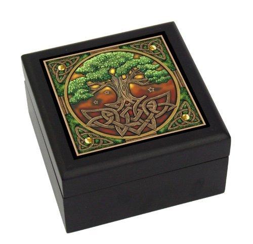 """The Celtic Tree of Life """"El Árbol De La Vida"""" Art Tile Box"""
